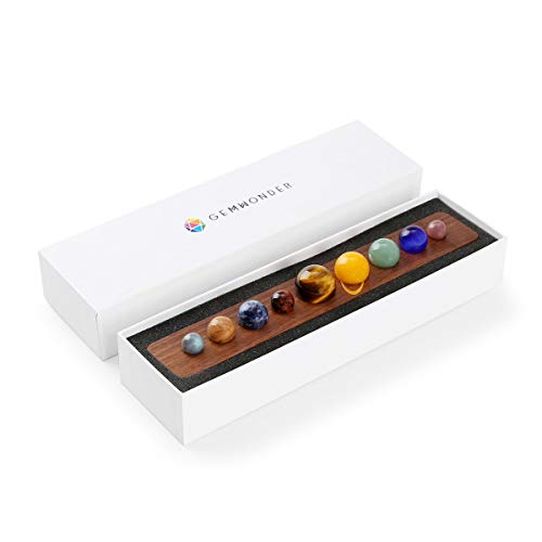 Astronomy Gifts Nine Planets in Solar System Natural Gemstone Outer Space Planets Celestial Home Desk Decorations