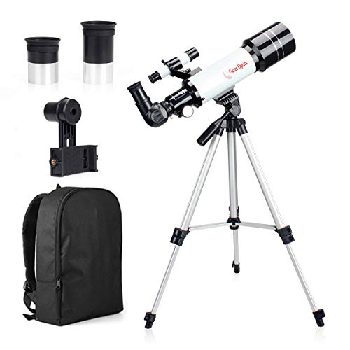 MOUTEC Kids Telescope for Astronomy Beginners with Backpack Smartphone Adapter, Portable 70mm Refractor Travel Telescope for Camping - Great for Children to Explore Space Moon Star