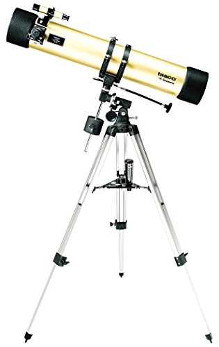 Tasco Luminova 114 x 900 mm Reflector Telescope, 40114675, Ideal for Beginner and Advanced Amateur Astronomers, Gold