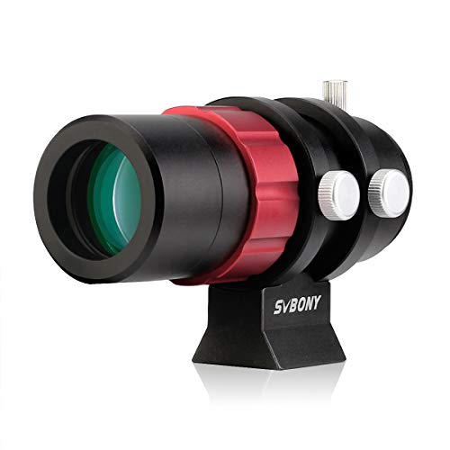 Svbony SV165 Finder Scopes for Telescopes,Finderscope, 30mm Mini Guide Scope with Helical Focuser F4 120mm Multilayer Coating Compatible with ZWO QHY Auto Guide Camera