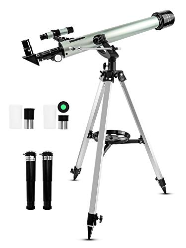 Uong Refractor Telescope, Professional 525X Space Astronomic Telescope Kids Monocular Telescopes with Tripod and Finderscope Educational Toys for Astronomy Beginners Moon and Planetary Observations