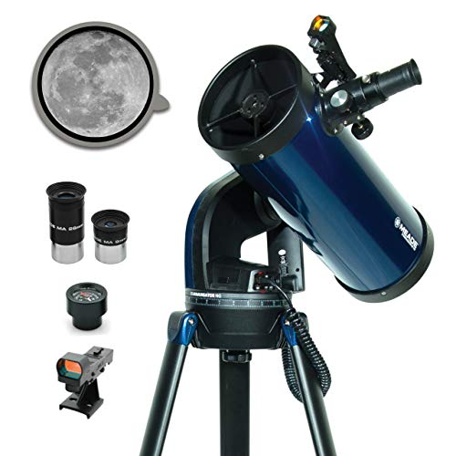 Meade Instruments – StarNavigator NG 130mm Reflecting Computerized GoTo Astronomy Telescope w/AudioStar® 30,000+ Object-Database & Audio Tour – Mount & Tripod Included – See the Moon Planets & Stars