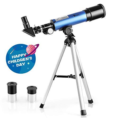 TELMU Astronomical Telescope for Kids Educational Science Refractor with Super Strong but Lightweight Tripod for Astronomy Beginners