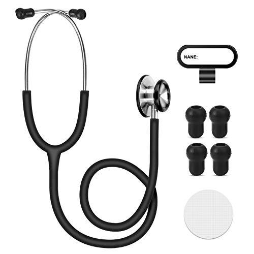 CAVN Stethoscope for Medical and Home, Dual Head Stethoscope Classic Lightweight Design Stethoscope for Adult, Gift for Nurses, Doctors, Medical Students