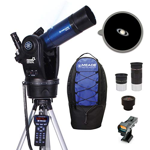 Meade Instruments ETX80 Observer Portable Computerised Telescope with Backpack - Metallic Blue