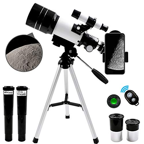 GEERTOP Ultra-Clear Astronomic Refractor Telescope with Tripod Finder Scope Smartphone Adapter 300X70mm for Kids Astronomy Beginners Adults