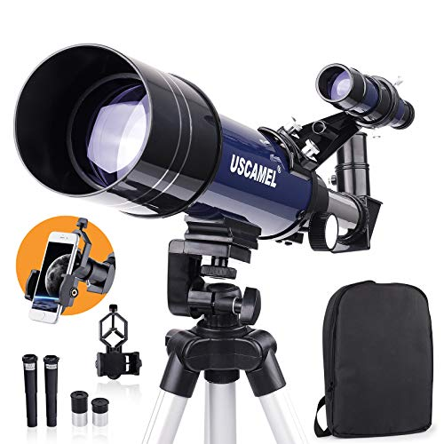 Telescopes for Astronomy,HD 70mm Aperture 400mm AZ Mount Telescope with Fully Multi-Coated Optics,Telescopes for Kids,Telescope for beginners Telescopes for adults with Backpack,Phone Adapter,Tripod