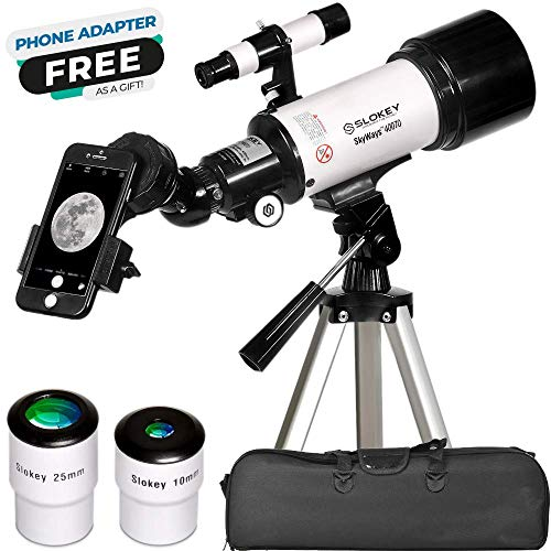 Astronomical Telescope - Portable and Powerful 16x-120x Travel Scope - Easy to Mount and Use - Ideal for Kids and Beginner Adults - Includes Manual, Phone Adapter, Case, Tripod, 2 Eyepieces, 3x Lens…