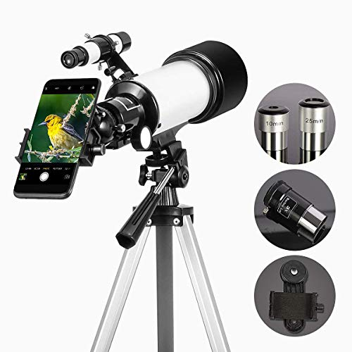 Gosky 70mm Refractor Telescope with Eyepieces, 3X Barlow Lens and Smartphone Mount
