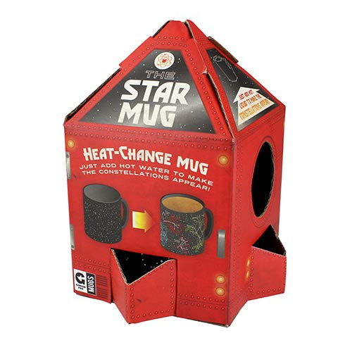 Ginger Fox Star Constellations Heat Changing Novelty Mug - Watch Your Mug Reveal Starry Skies - For The Astronomer